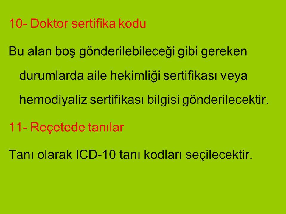 10- Doktor sertifika kodu