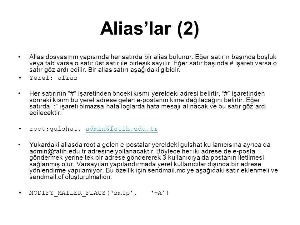 Alias'lar (2)