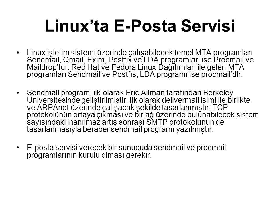 Linux'ta E-Posta Servisi