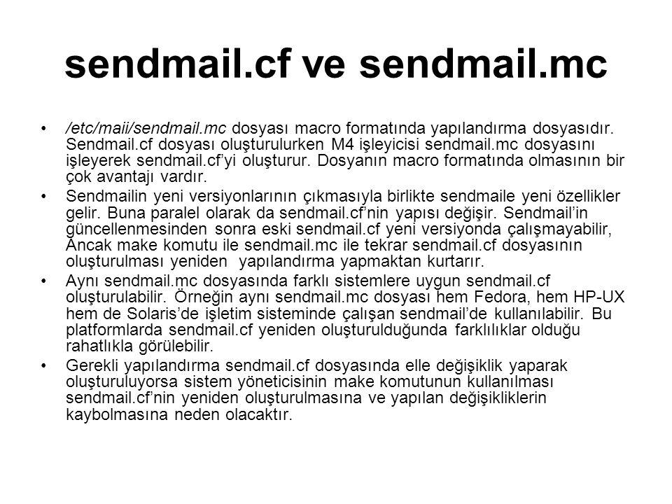 sendmail.cf ve sendmail.mc