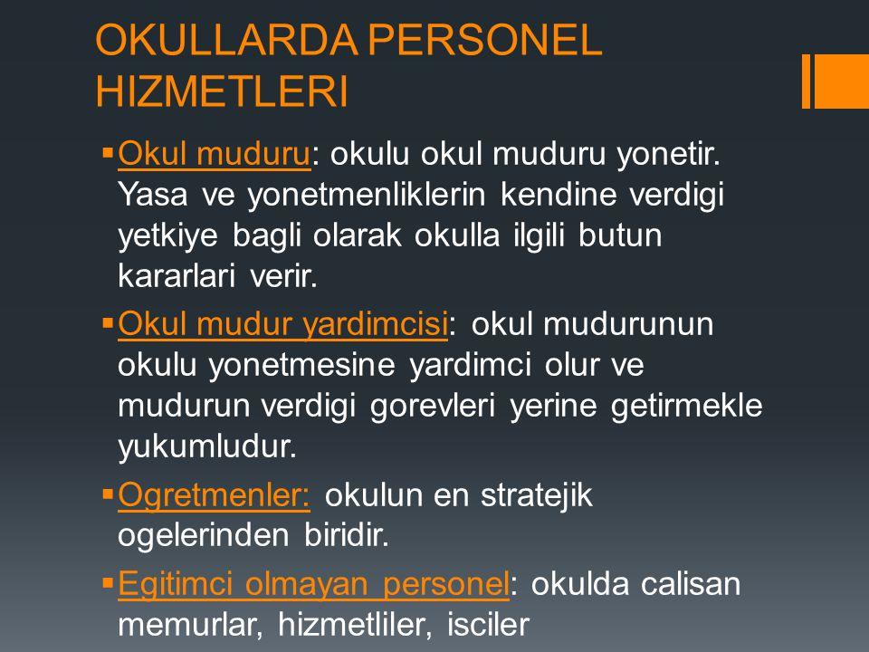 OKULLARDA PERSONEL HIZMETLERI