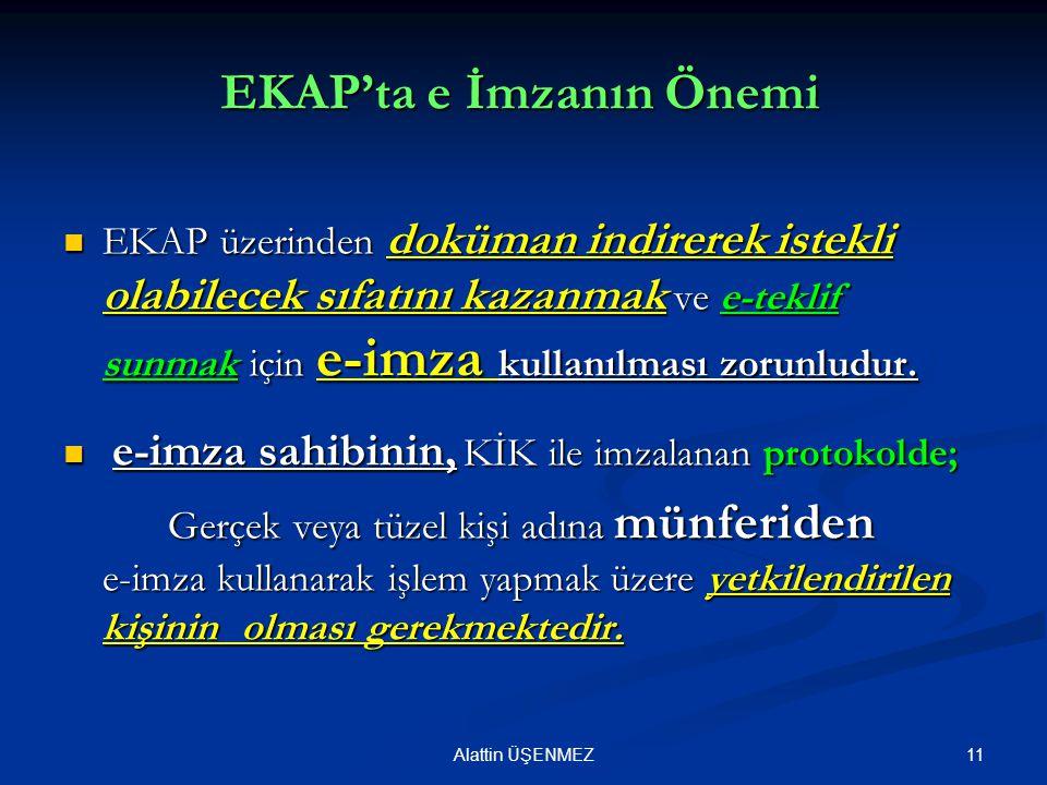 EKAP'ta e İmzanın Önemi