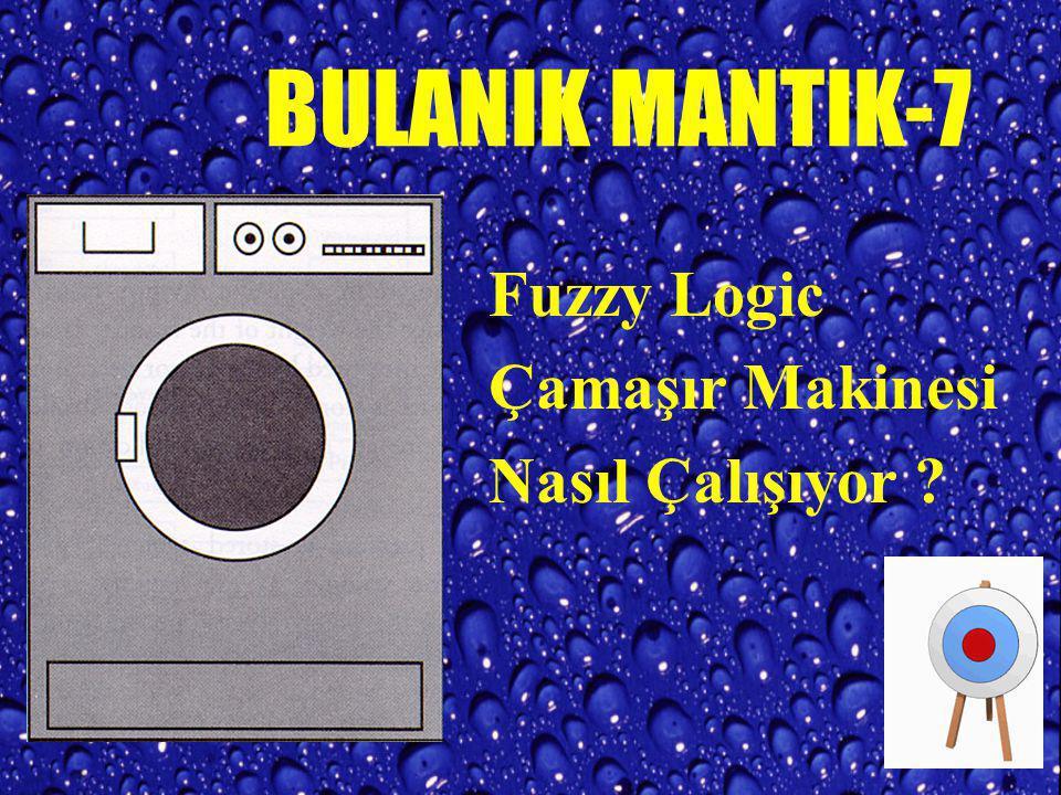 BULANIK MANTIK-7 Fuzzy Logic Çamaşır Makinesi Nasıl Çalışıyor