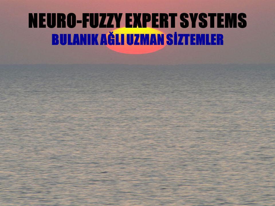 NEURO-FUZZY EXPERT SYSTEMS BULANIK AĞLI UZMAN SİZTEMLER