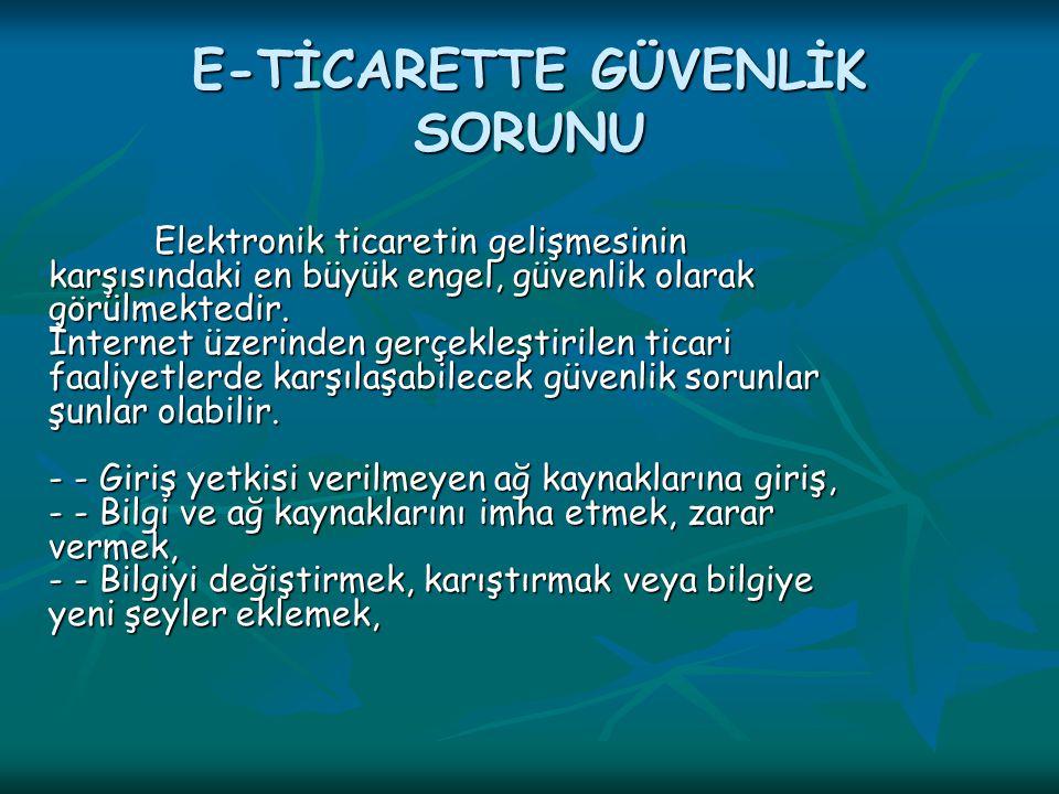 E-TİCARETTE GÜVENLİK SORUNU