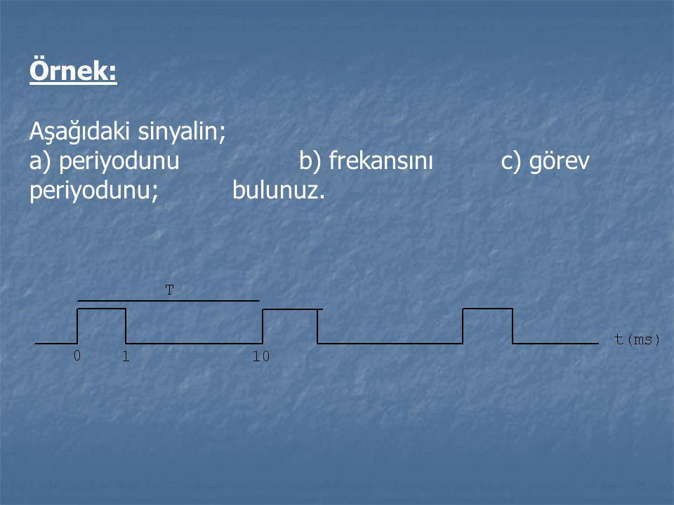 Örnek: Aşağıdaki sinyalin;