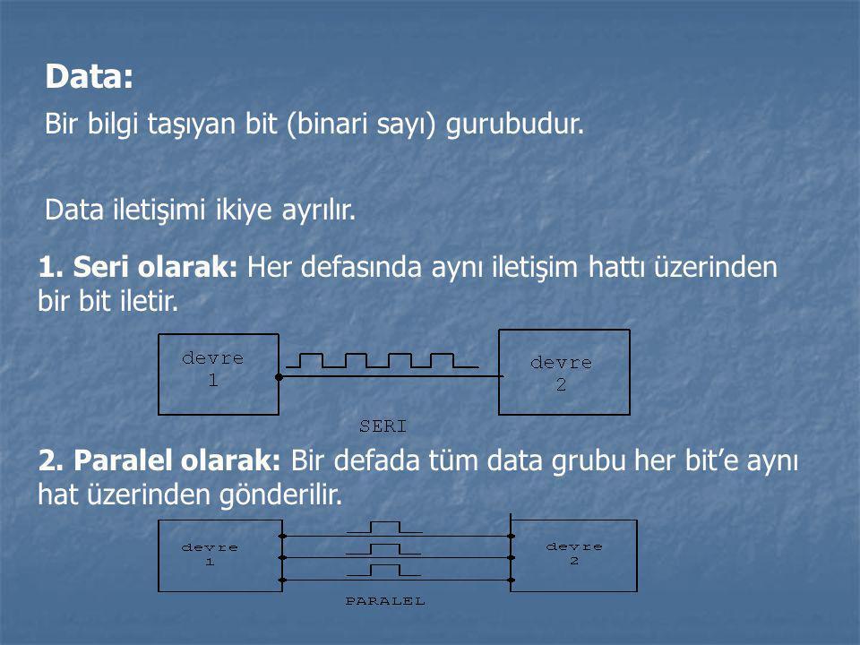 Data: Bir bilgi taşıyan bit (binari sayı) gurubudur.