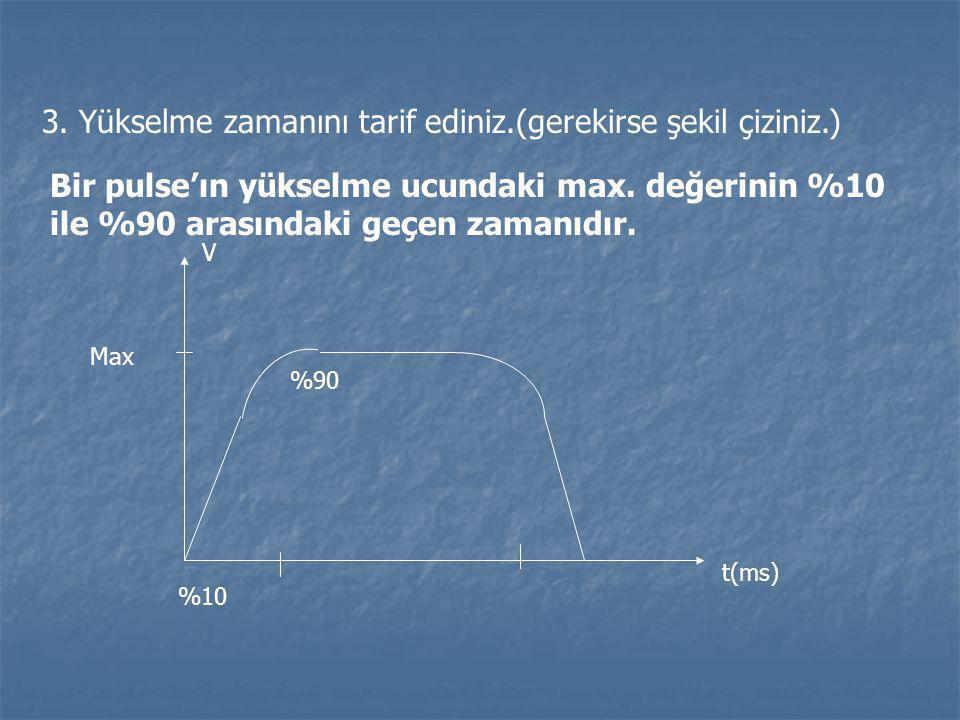 3. Yükselme zamanını tarif ediniz.(gerekirse şekil çiziniz.)