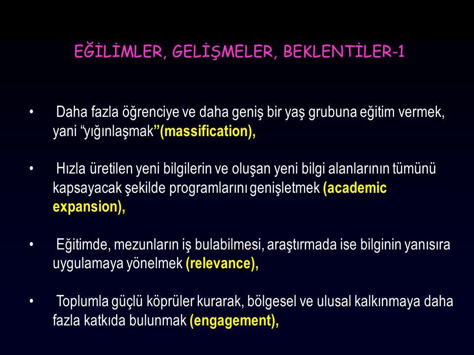 EĞİLİMLER, GELİŞMELER, BEKLENTİLER-1