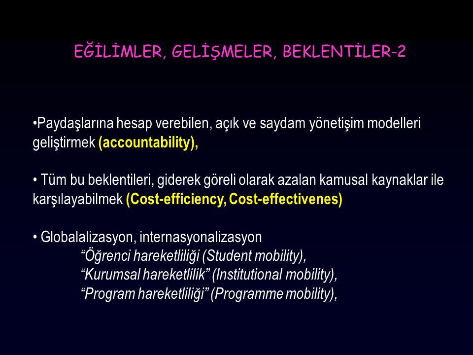EĞİLİMLER, GELİŞMELER, BEKLENTİLER-2