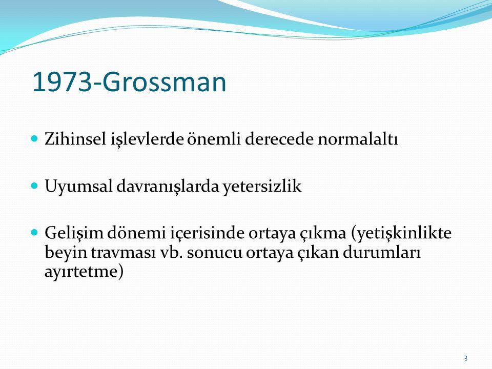 1973-Grossman Zihinsel işlevlerde önemli derecede normalaltı