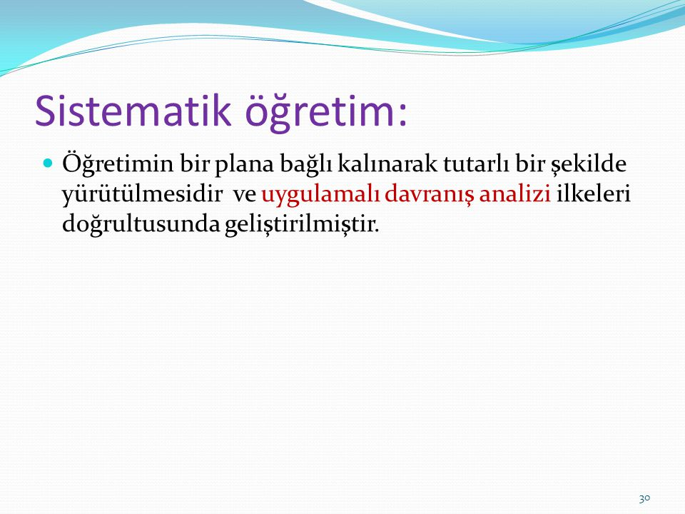 Sistematik öğretim: