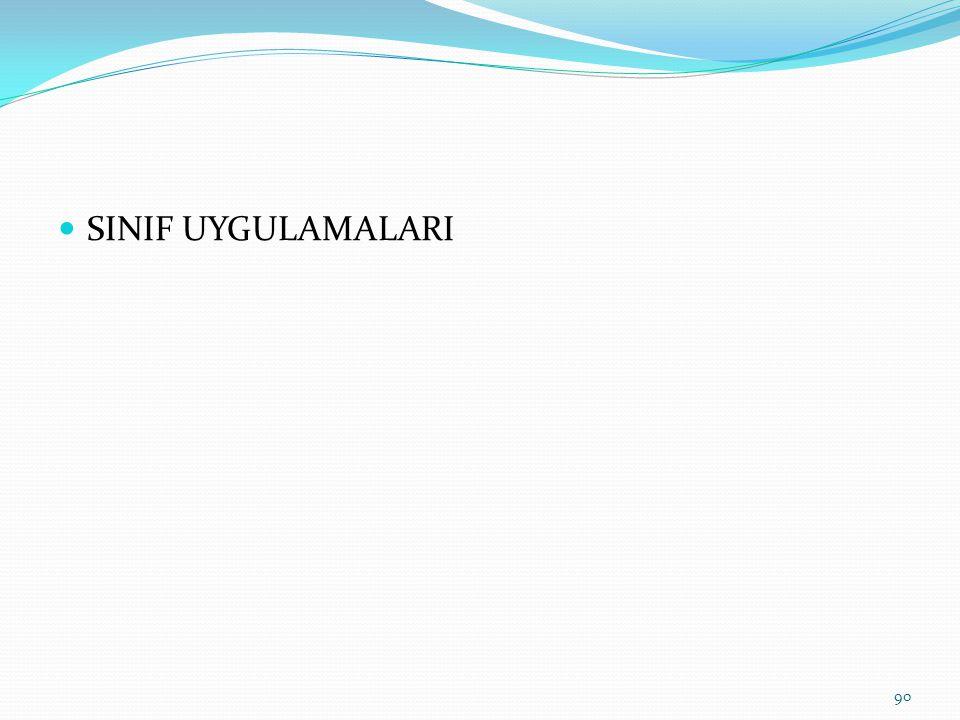 SINIF UYGULAMALARI