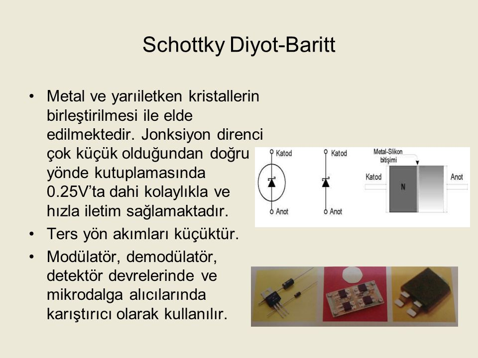 Schottky Diyot-Baritt