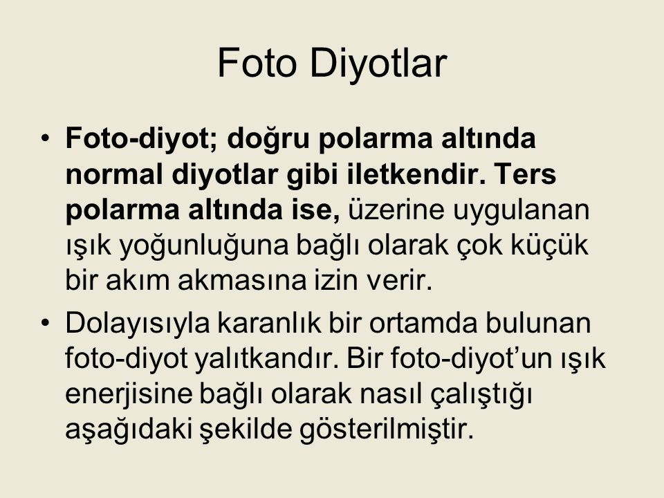 Foto Diyotlar