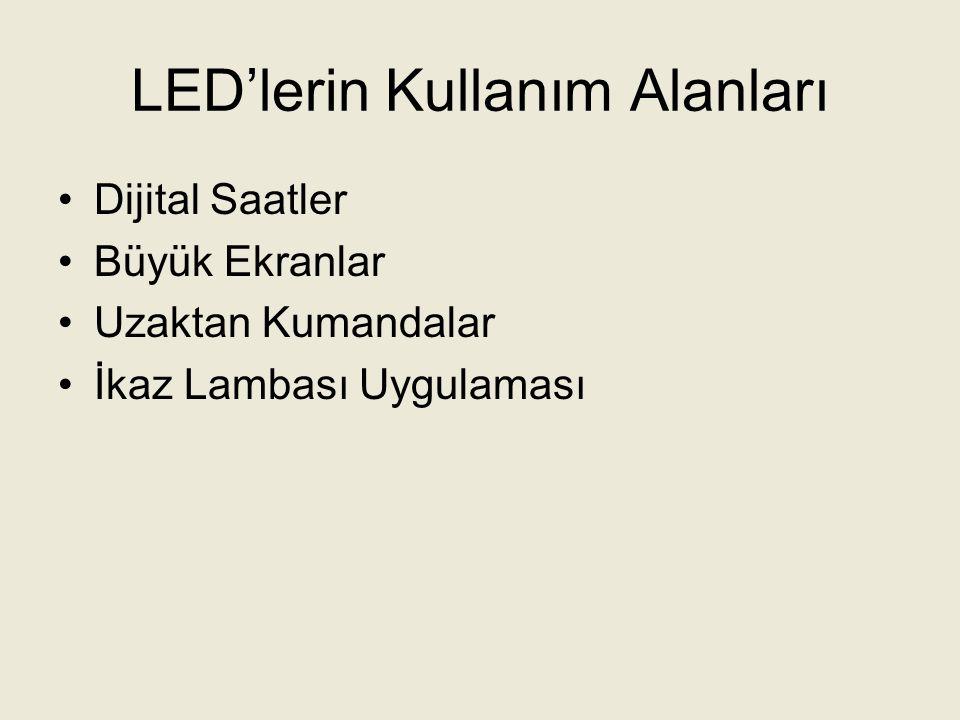 LED'lerin Kullanım Alanları