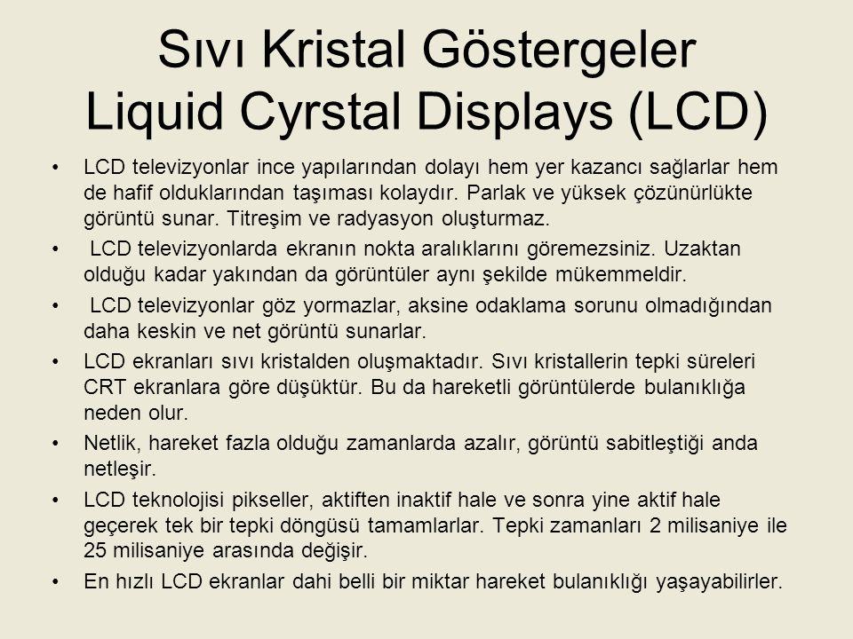Sıvı Kristal Göstergeler Liquid Cyrstal Displays (LCD)