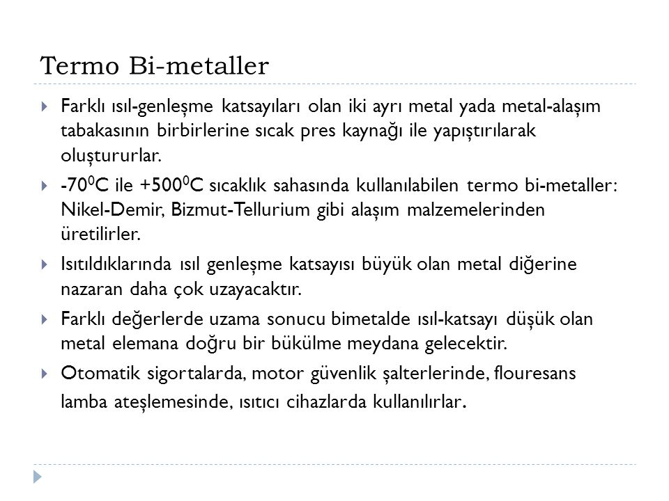 Termo Bi-metaller