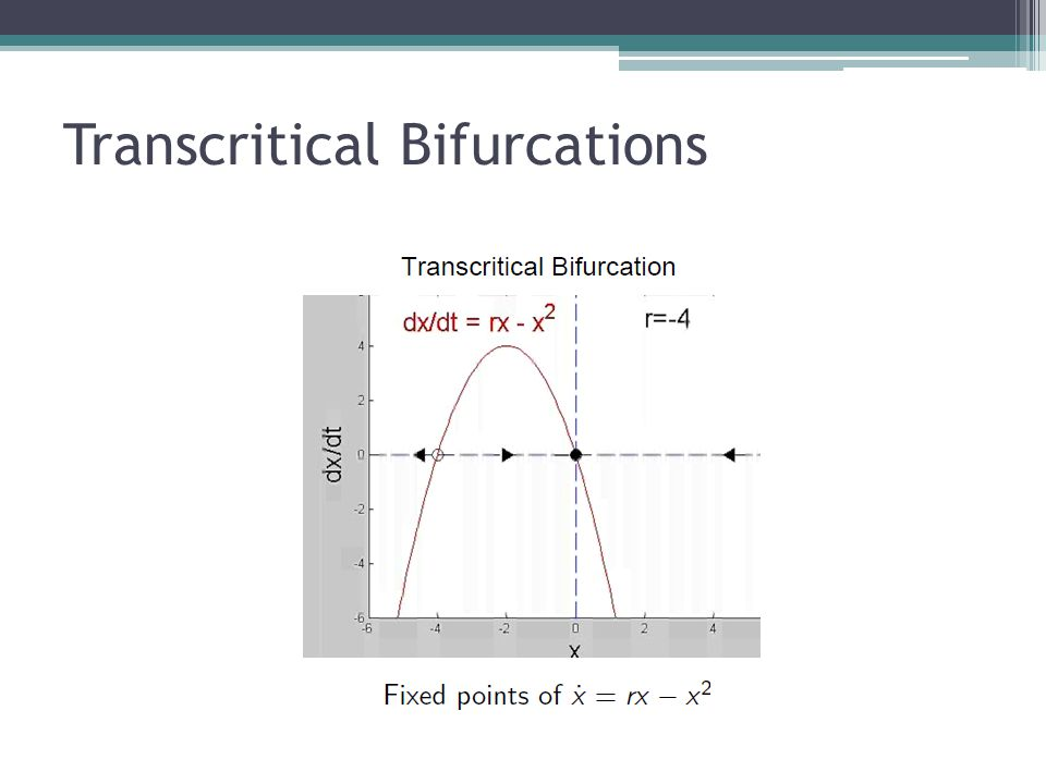 Transcritical Bifurcations