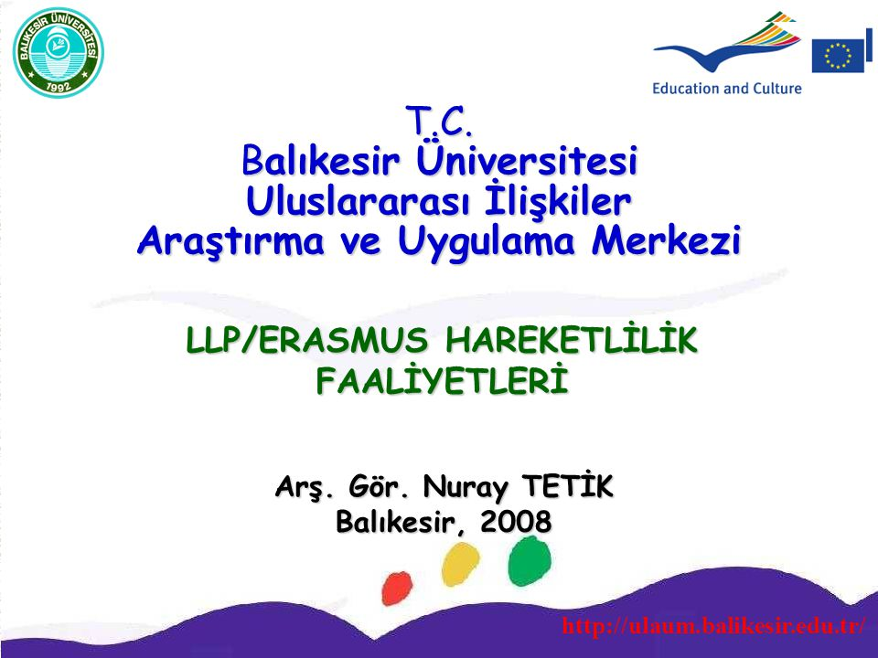 LLP/ERASMUS HAREKETLİLİK FAALİYETLERİ