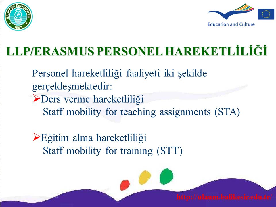 LLP/ERASMUS PERSONEL HAREKETLİLİĞİ