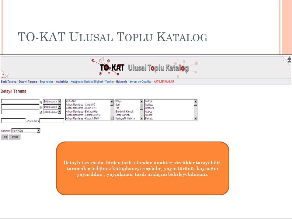 TO-KAT Ulusal Toplu Katalog