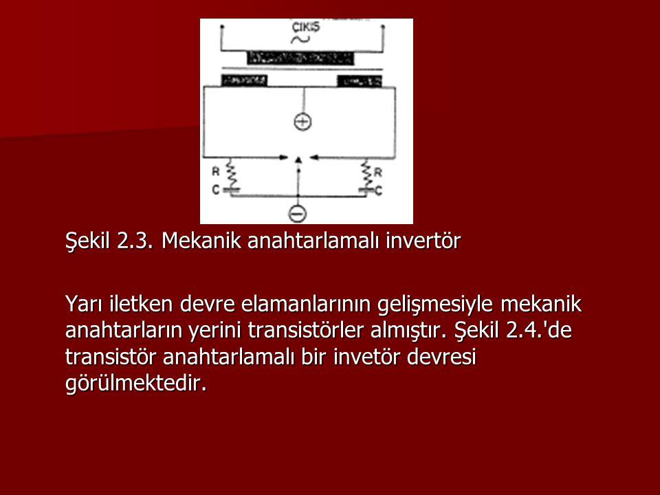 Şekil 2.3. Mekanik anahtarlamalı invertör