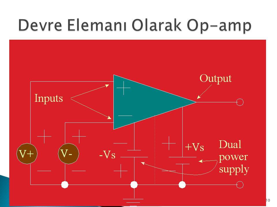 Devre Elemanı Olarak Op-amp