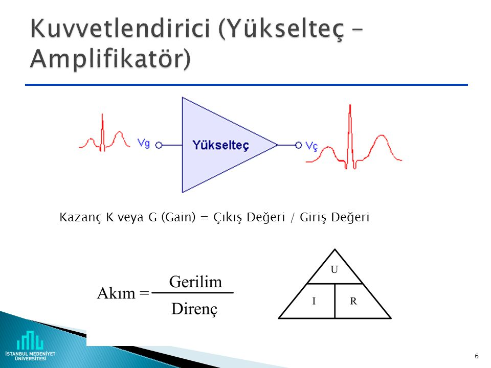 Kuvvetlendirici (Yükselteç – Amplifikatör)