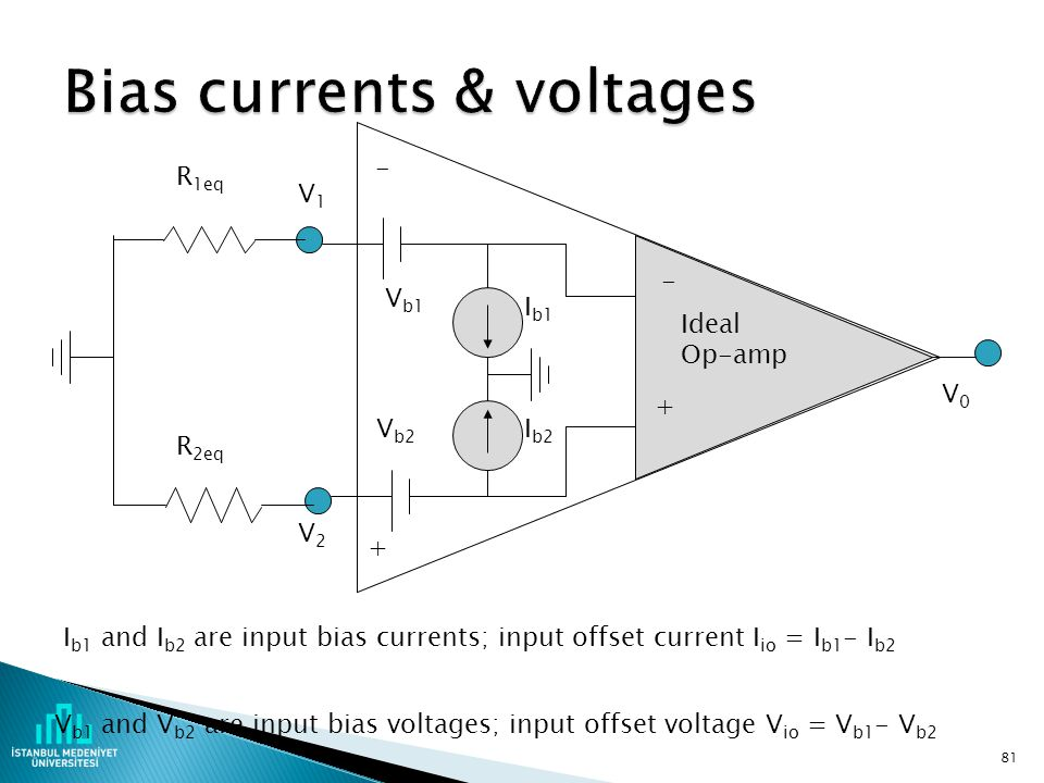 Bias currents & voltages