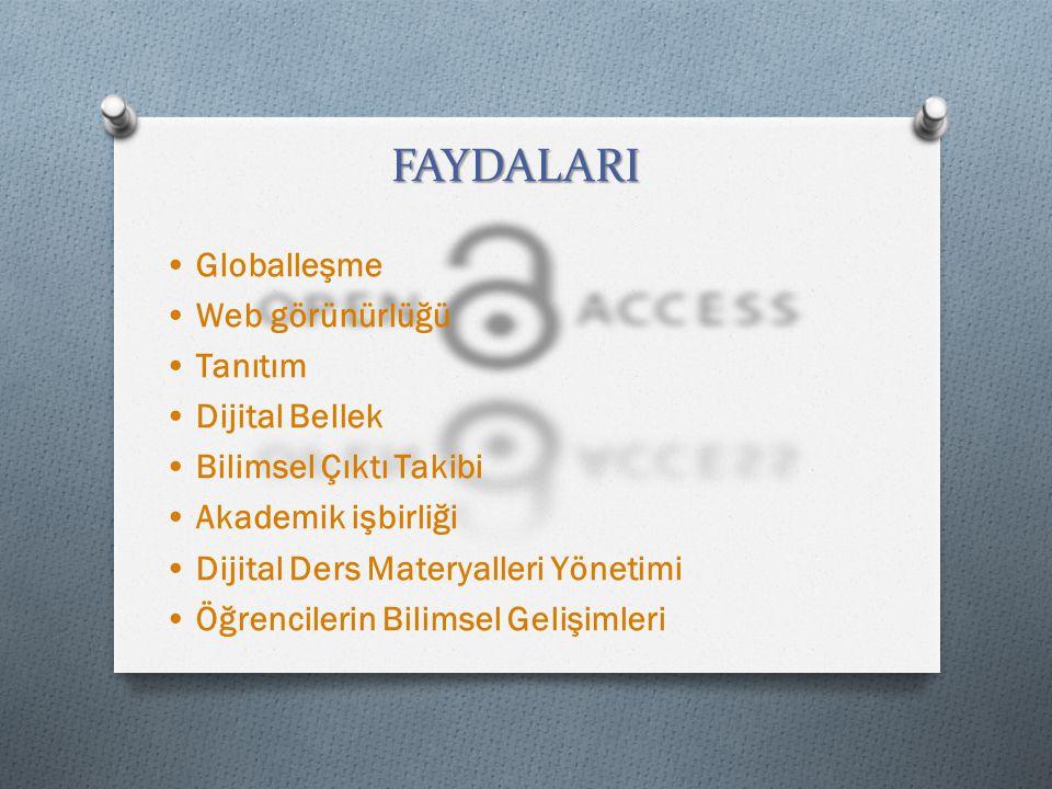 FAYDALARI • Globalleşme • Web görünürlüğü • Tanıtım • Dijital Bellek
