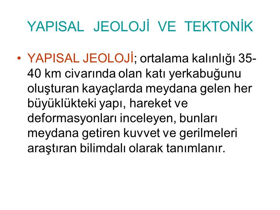 YAPISAL JEOLOJİ VE TEKTONİK