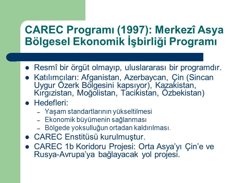 CAREC Programı (1997): Merkezî Asya Bölgesel Ekonomik İşbirliği Programı