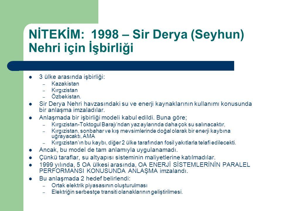 NİTEKİM: 1998 – Sir Derya (Seyhun) Nehri için İşbirliği