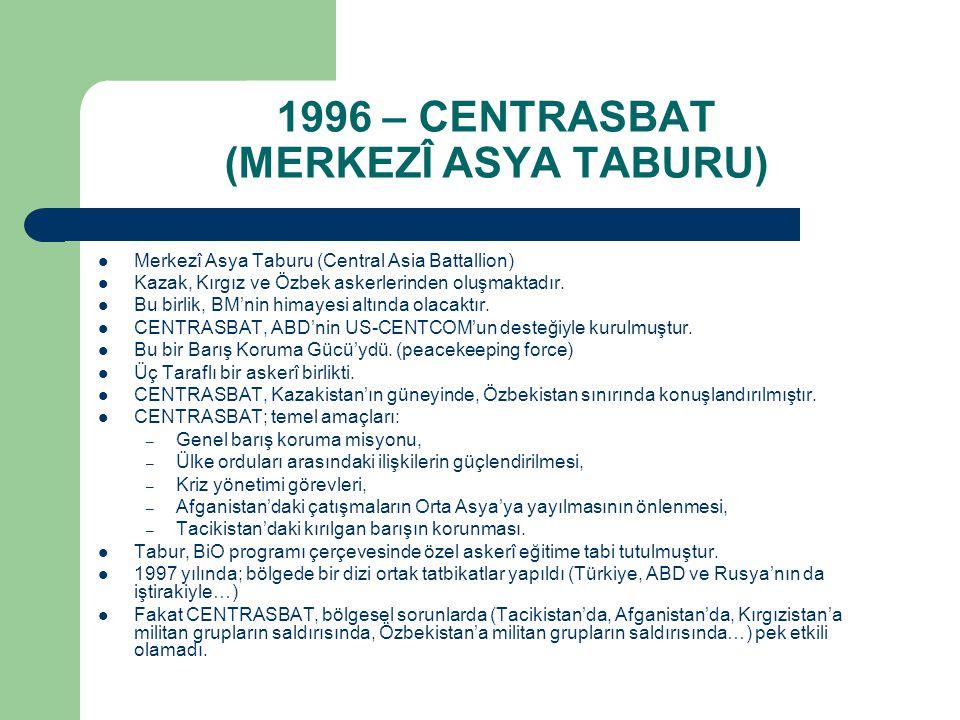1996 – CENTRASBAT (MERKEZÎ ASYA TABURU)