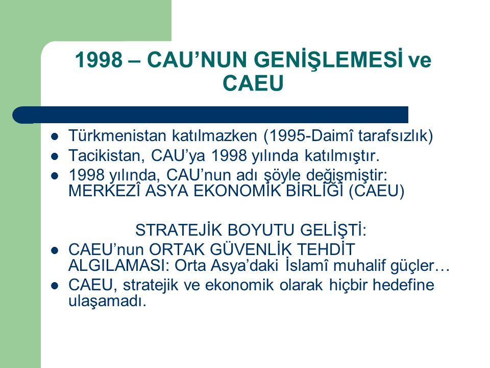 1998 – CAU'NUN GENİŞLEMESİ ve CAEU