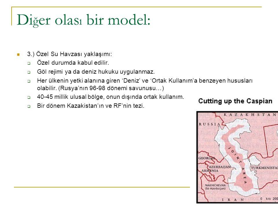Diğer olası bir model: 3.) Özel Su Havzası yaklaşımı: