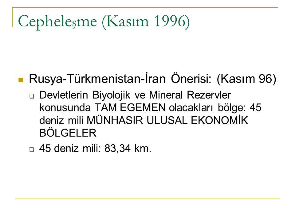 Cepheleşme (Kasım 1996) Rusya-Türkmenistan-İran Önerisi: (Kasım 96)