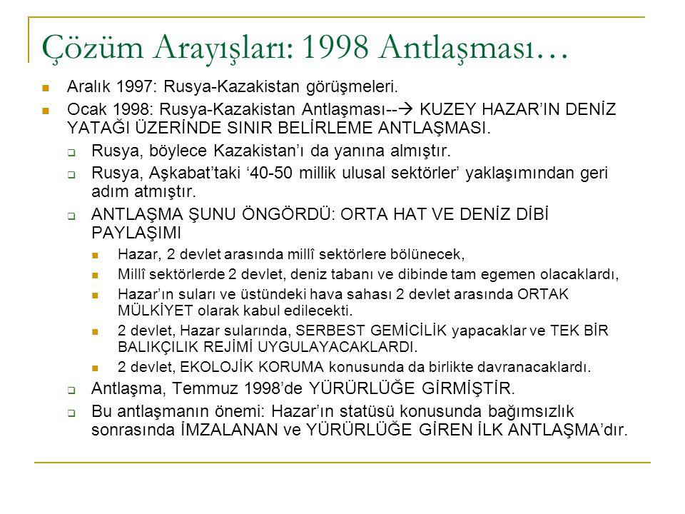 Çözüm Arayışları: 1998 Antlaşması…