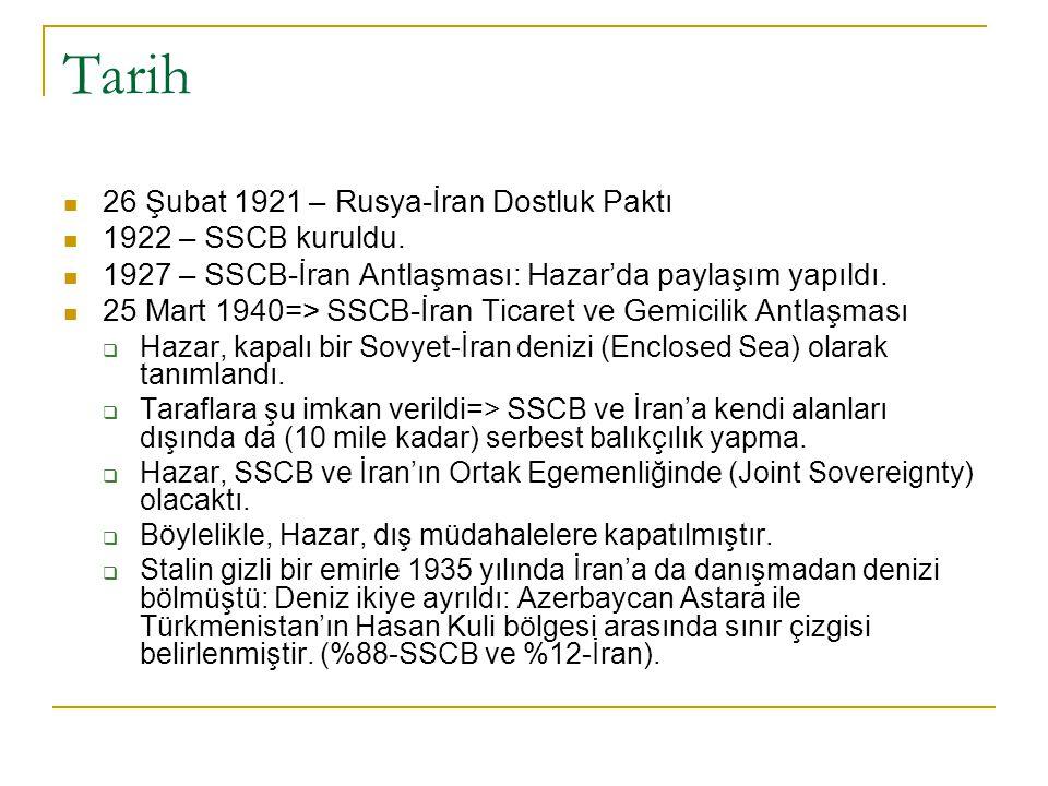 Tarih 26 Şubat 1921 – Rusya-İran Dostluk Paktı 1922 – SSCB kuruldu.