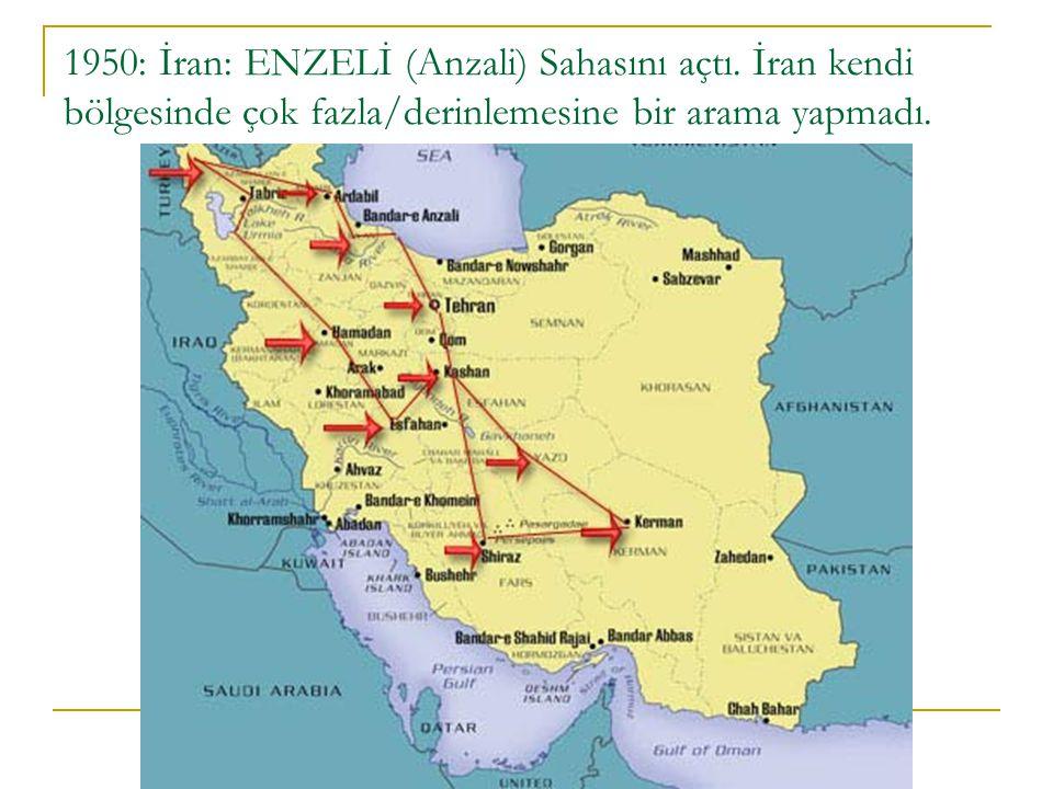 1950: İran: ENZELİ (Anzali) Sahasını açtı
