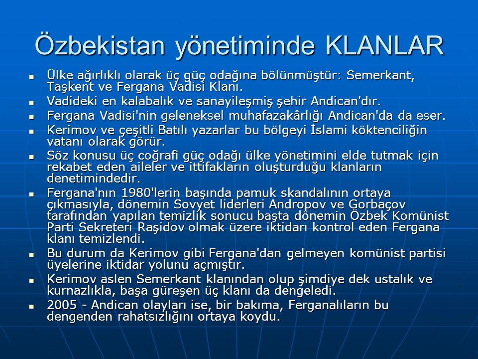 Özbekistan yönetiminde KLANLAR
