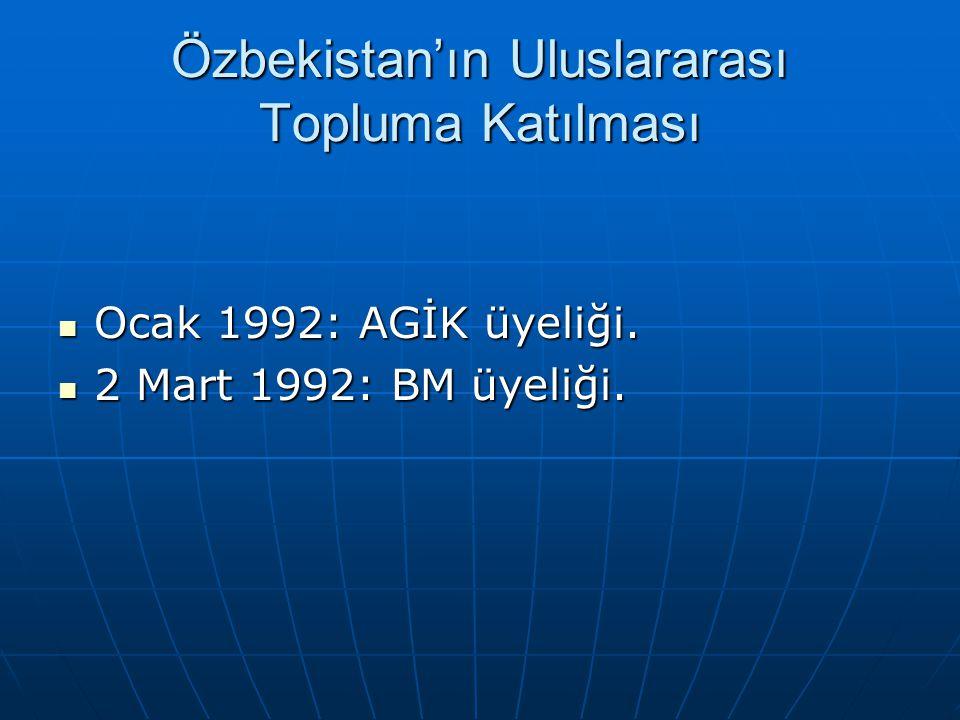 Özbekistan'ın Uluslararası Topluma Katılması