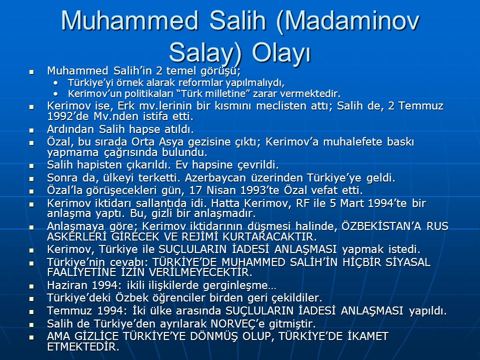 Muhammed Salih (Madaminov Salay) Olayı