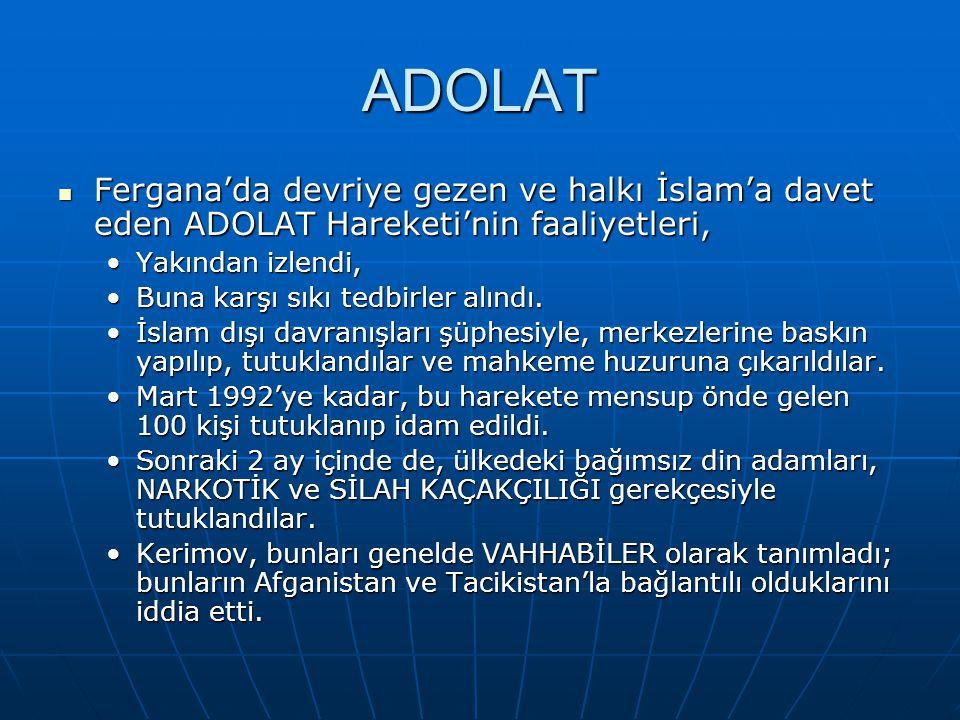 ADOLAT Fergana'da devriye gezen ve halkı İslam'a davet eden ADOLAT Hareketi'nin faaliyetleri, Yakından izlendi,