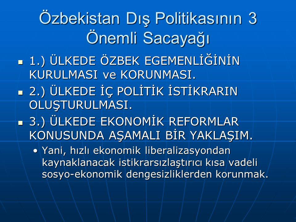 Özbekistan Dış Politikasının 3 Önemli Sacayağı