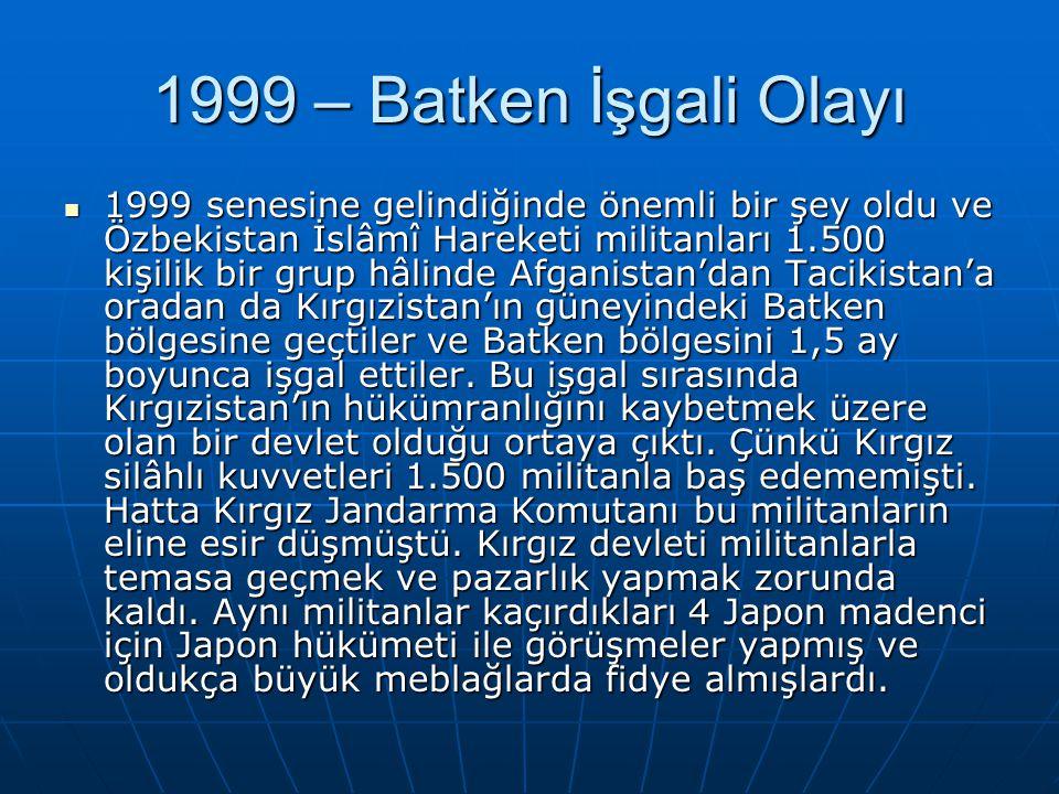 1999 – Batken İşgali Olayı
