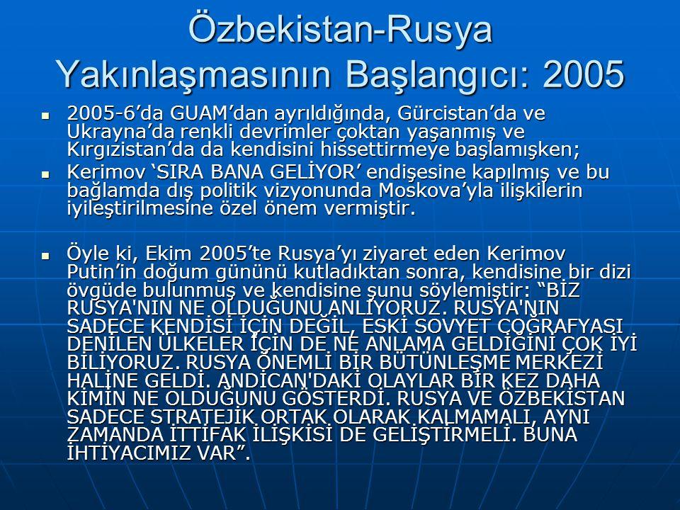 Özbekistan-Rusya Yakınlaşmasının Başlangıcı: 2005