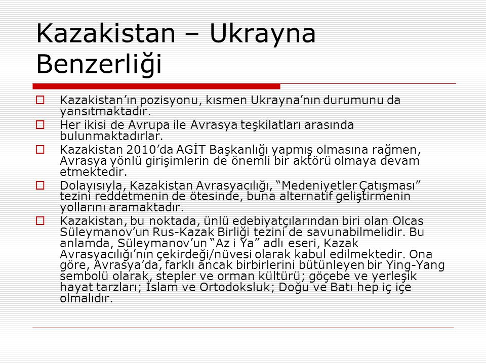 Kazakistan – Ukrayna Benzerliği