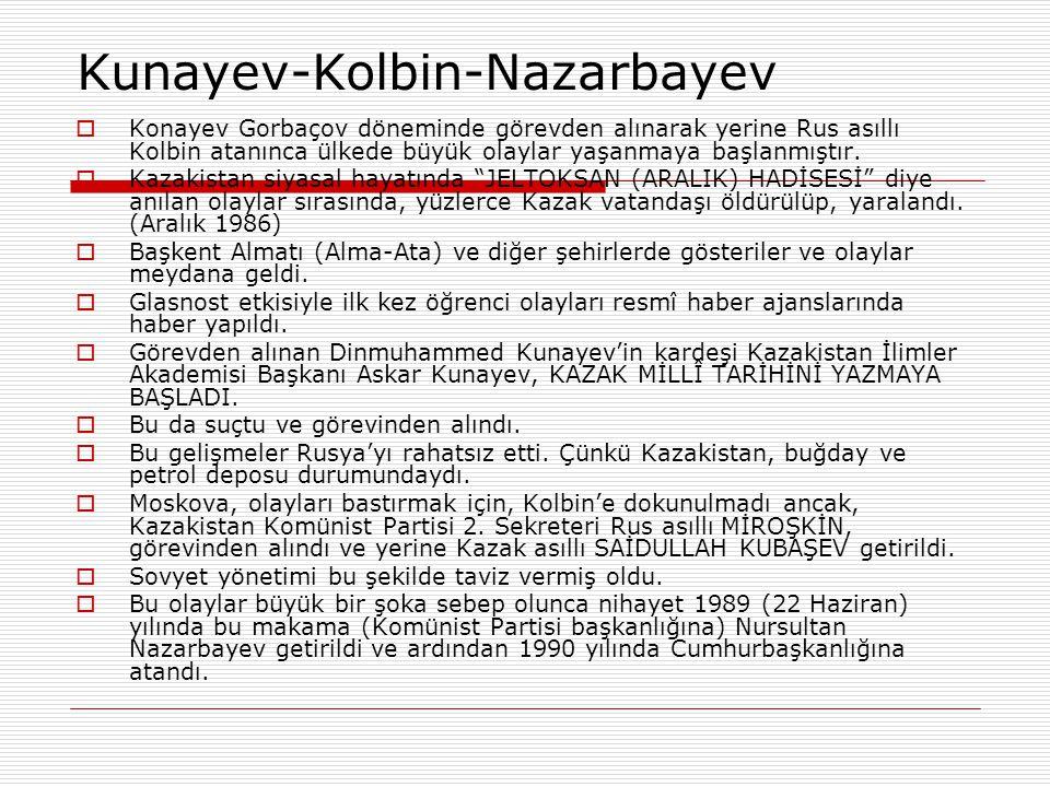 Kunayev-Kolbin-Nazarbayev